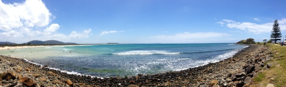 Crescent Head beach panorama