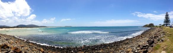 Crescent Head beach panorama