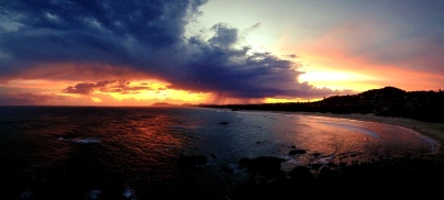 Mother Nature turning it on ... and iPhone's panorama function doing work!