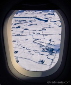 Flying into Sapporo.