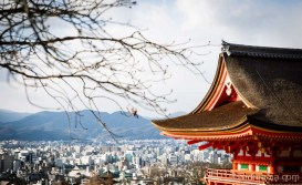 Kyoto view from Kiyomizudera Temple.
