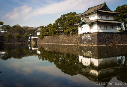 The guard towers along the moat at the Tokyo Imperial Palace.