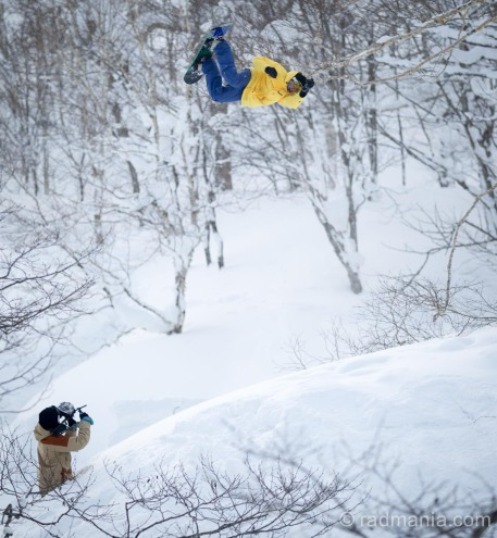 It doesn't always go to plan. Nick Brown bailing mid air.