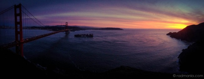 Radich SF-Golden Gate Bridge sunset