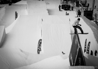 View of The Mile High slopestyle course.