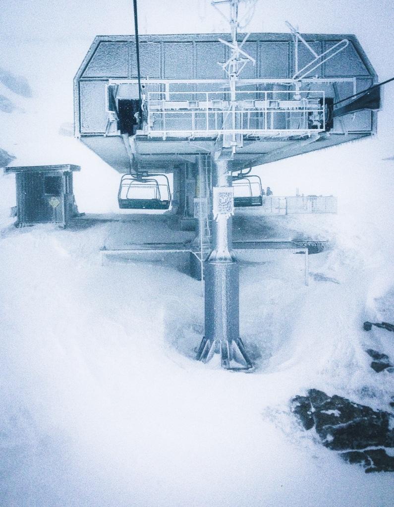 Perisher lift tower blizzard - Sean Radich